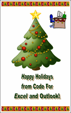 Word Art Christmas Card - JP