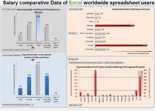 Dashboard to visualize Excel Salaries - by Marko Markovic - Chandoo.org - Screenshot