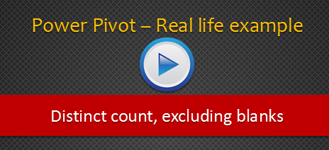 Distinct Count calculations using Power Pivot for Excel & more