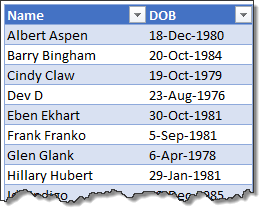 Sorting dates on day and month alone - Excel tips