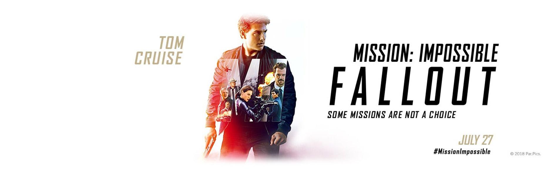 Movie, Mission: Impossible - Fallout(美國, 2018) / 不可能的任務:全面瓦解(台) / 碟中谍6:全面瓦解(中) / 職業特工隊:叛逆之謎(港), 電影海報, 美國, 橫版