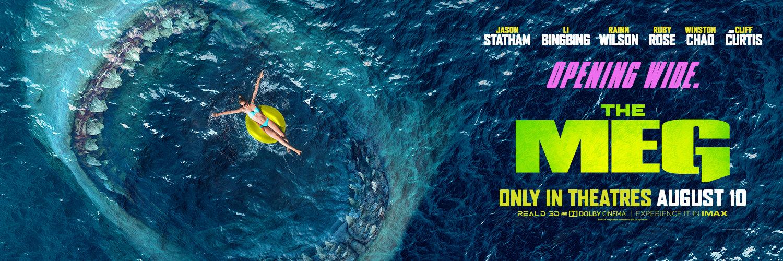 Movie, The Meg(美國.中國, 2018) / 巨齒鯊(台) / 巨齿鲨(中) / 極悍巨鯊(港), 電影海報, 美國, 橫版
