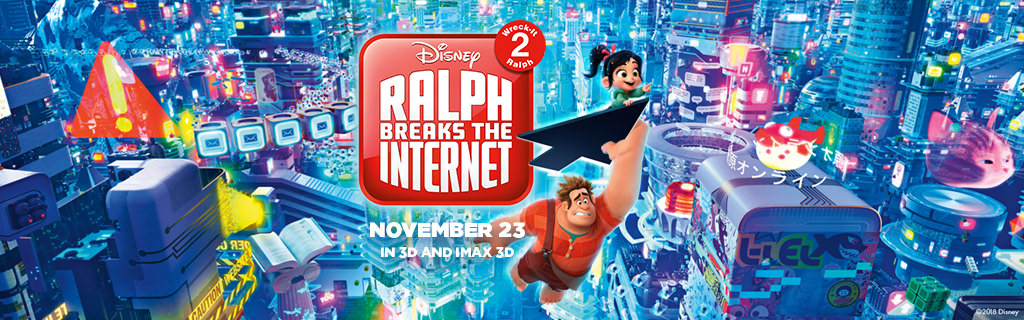 Movie, Ralph Breaks the Internet(美國, 2018) / 無敵破壞王2:網路大暴走(台灣) / 無敵破壞王2:打爆互聯網(香港) / 无敌破坏王2:大闹互联网(網), 電影海報, 印度, 橫版