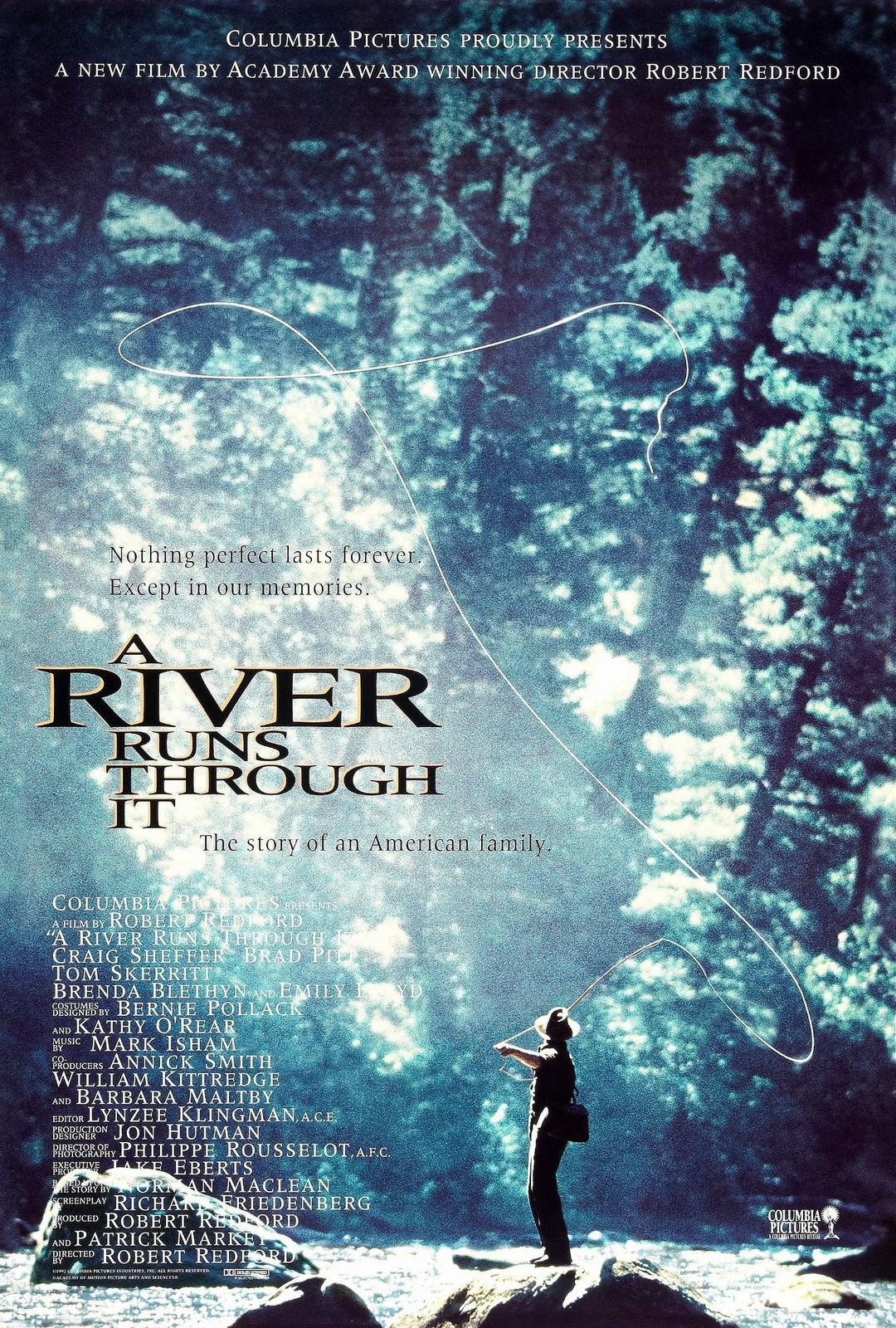 Movie, A River Runs Through It(美國, 1992年) / 大河戀(台灣) / 川流歲月(香港), 電影海報, 美國