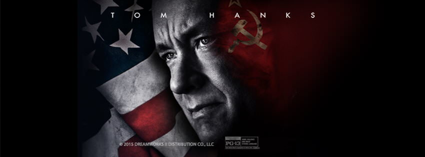 Movie, Bridge of Spies(美國, 2015年) / 間諜橋(台灣) / 间谍之桥(中國) / 換諜者(香港), 電影海報, 美國, 橫版
