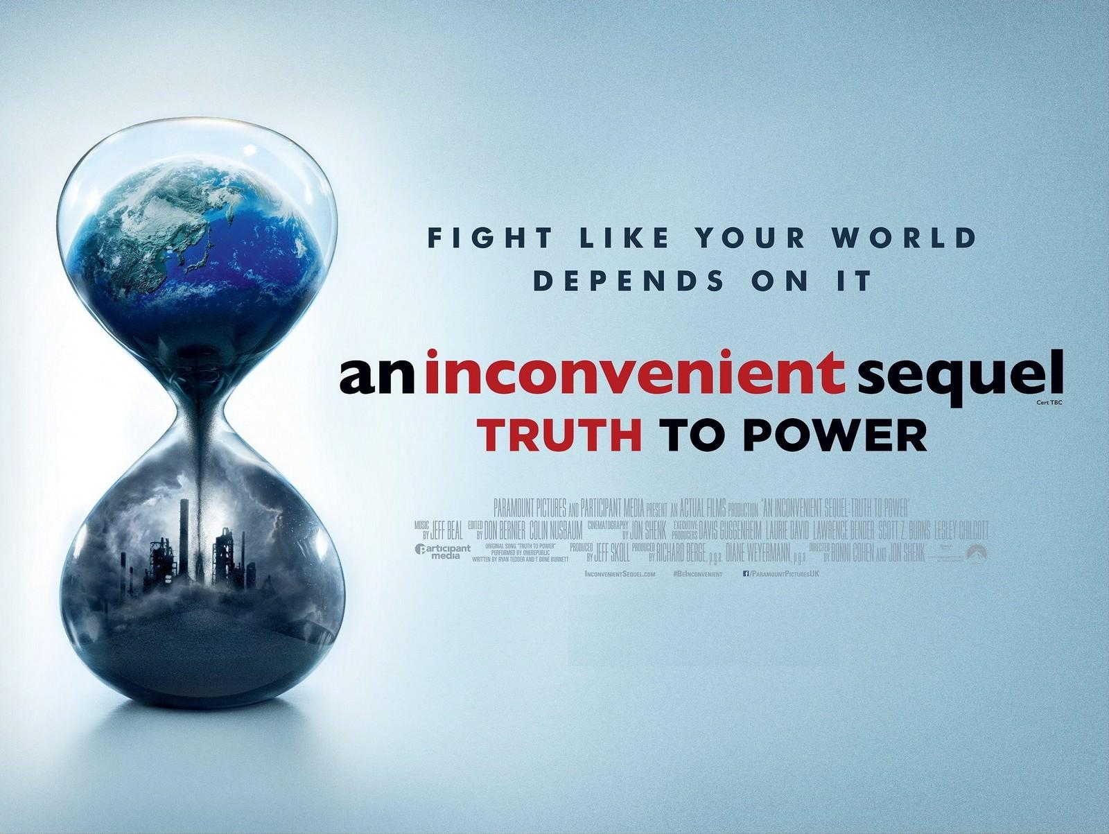Movie, An Inconvenient Sequel: Truth to Power(美國, 2017年) / 不願面對的真相2(台灣) / 絕望真相2(香港) / 难以忽视的真相2(網路), 電影海報, 美國, 橫版