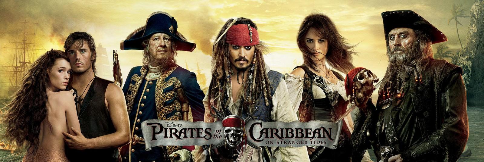 Movie, Pirates of the Caribbean: On Stranger Tides(美國, 2011年) / 加勒比海盜 神鬼奇航:幽靈海(台灣) / 加勒比海盗4:惊涛怪浪(中國) / 加勒比海盜:魔盜狂潮(香港), 電影海報, 美國, 橫版