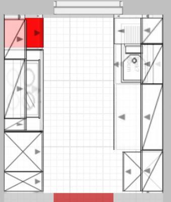 Nischenhöhe über 99cm hoher Arbeitsplatte bzw. Unterkante