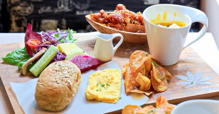 榙比歐卡Tapioca義式創意料理,美術館夢幻庭園早午餐,女孩兒約會就選這!