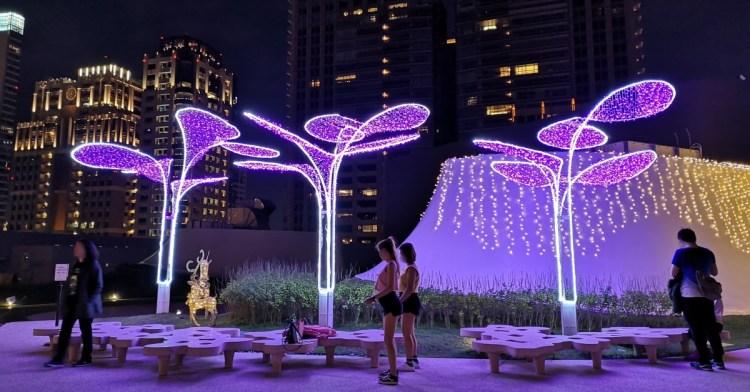 台中國家歌劇院空中花園點燈囉!趕緊把握聖誕節與跨年夜晚來浪漫一下吧!