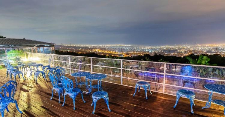 滔月景觀咖啡廳,台中最新夜景咖啡廳,迷路之後意外發現中彰地區的絕美夜景!