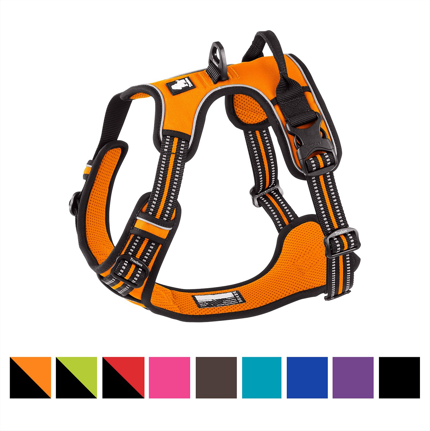 Chai S Choice 3m Reflective Dog Harness Large Orange