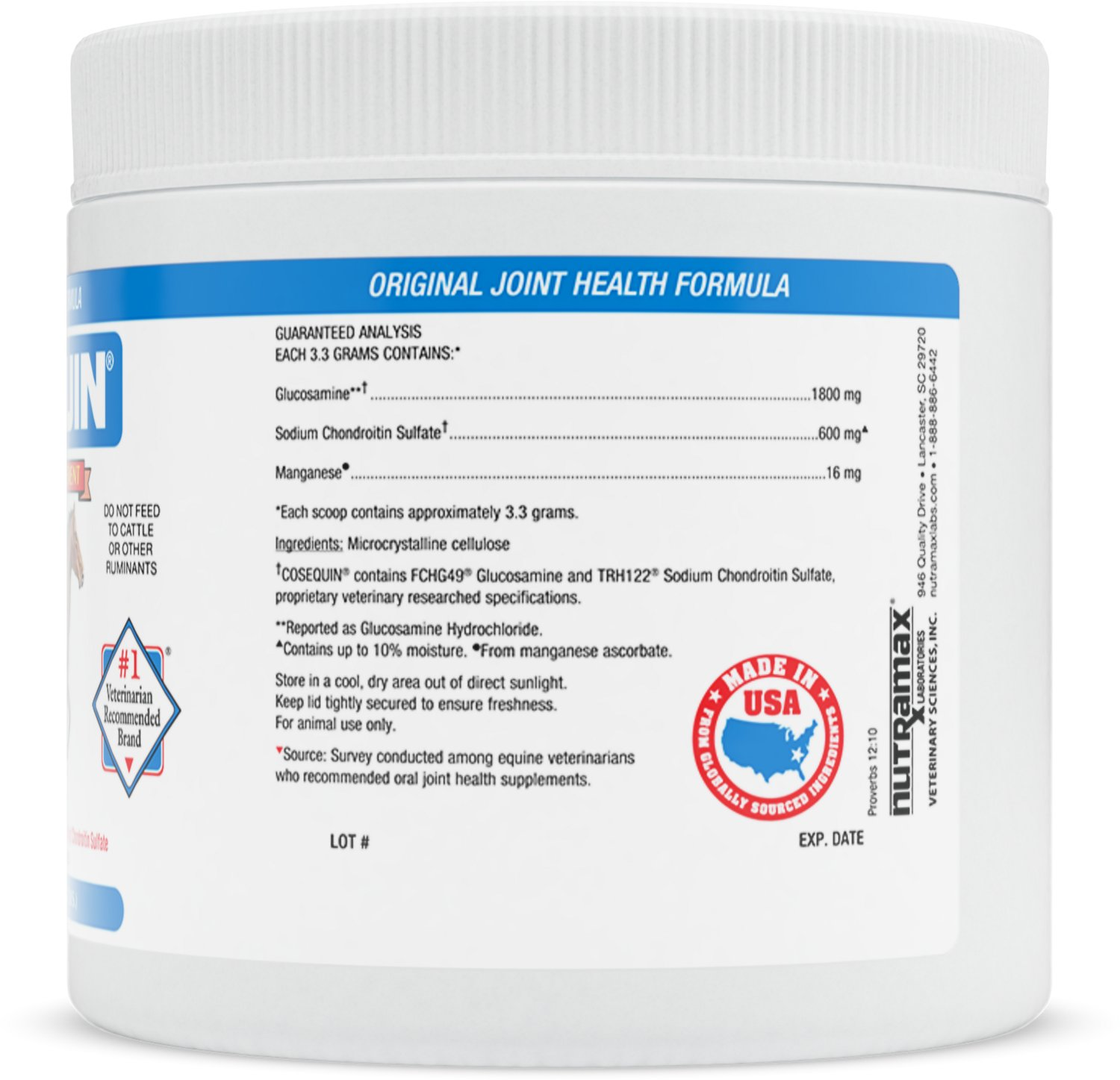 Nutramax Cosequin Concentrated Powder Joint Health Horse