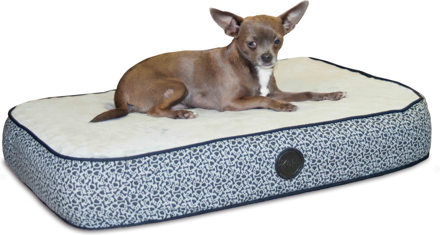 k h pet products superior orthopedic pillow cat dog bed gray