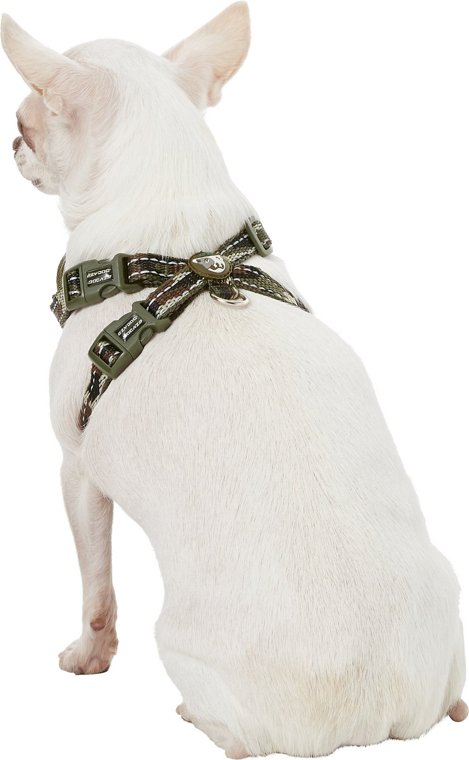 Ezydog Chest Plate Dog Harness Green Camo X Small