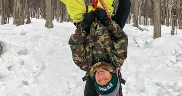 北海道最佳自然體驗 大雪山自然學校 冰上攀樹ツリーイング 東川町キトウシ森林公園