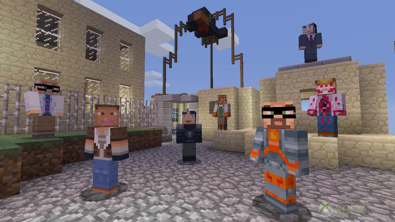 MineCraft Xbox 360 Skin Pack 3 Adds Half Life 2 Portal 2 Cast