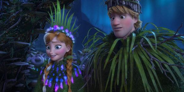 Anna and Kristoff during Fixer Upper music number 2013 Frozen