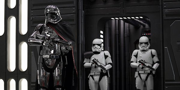 Phasma and two troopers in Star Wars: The Last Jedi
