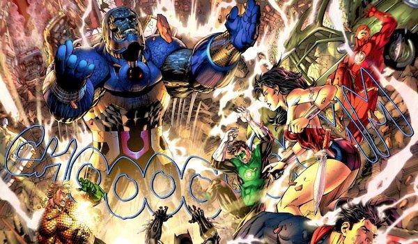 Darkseid battles Justice League