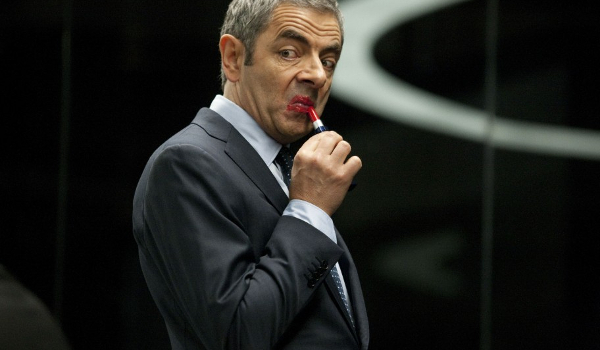 Johnny English Reborn Rowan Atkinson lipstick gag