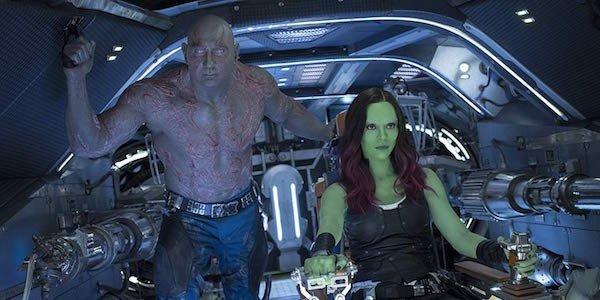 Drax et Gamora dans l'espace