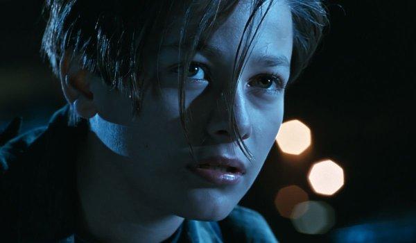 Terminator 2: Judgement Day John Connor in a night scene