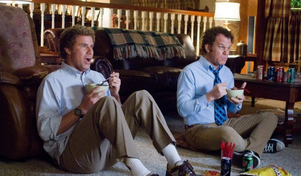Step Brothers Will Ferrell John C. Reilly eating cereal while watching TV