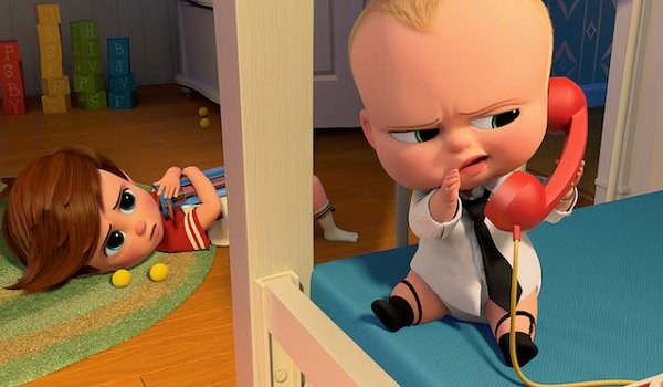 The Boss Baby Baby's making a call