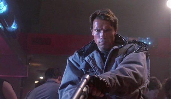 The Terminator The T-800 raising his pistol to make the kill