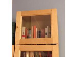 Ikea Con Ante Billy Vetrosimple Libreria Novit Cxewqrdboe