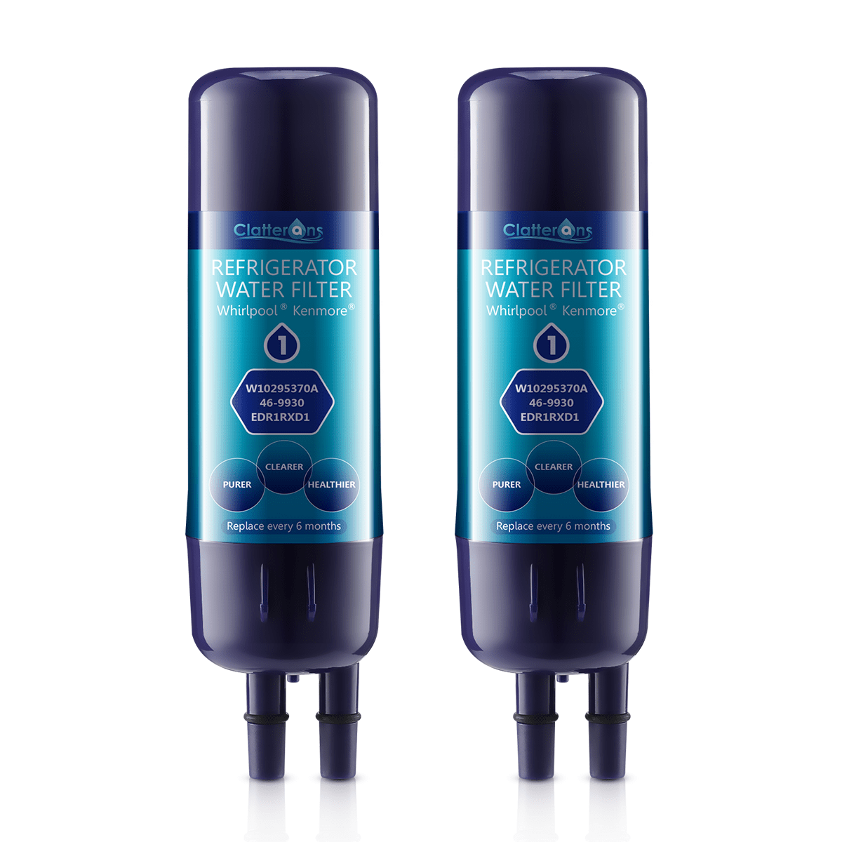 Whirlpool Refrigerator Water Filter 1 EDR1RXD1 W10295370 Amp Kenmore 9930 Water Filter 2 Pack