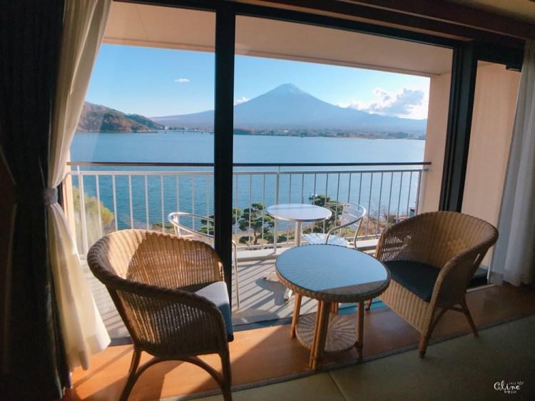 ▎河口湖住宿▎河口湖秀峰閣湖月。房間內就可欣賞到完整富士山美景