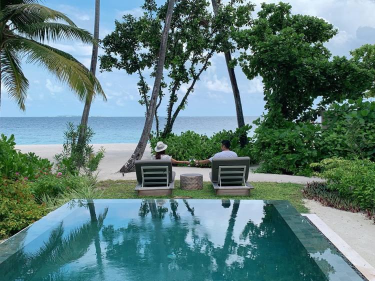 【馬爾地夫洲際渡假村InterContinental Maldives】浪漫沙灘屋開箱