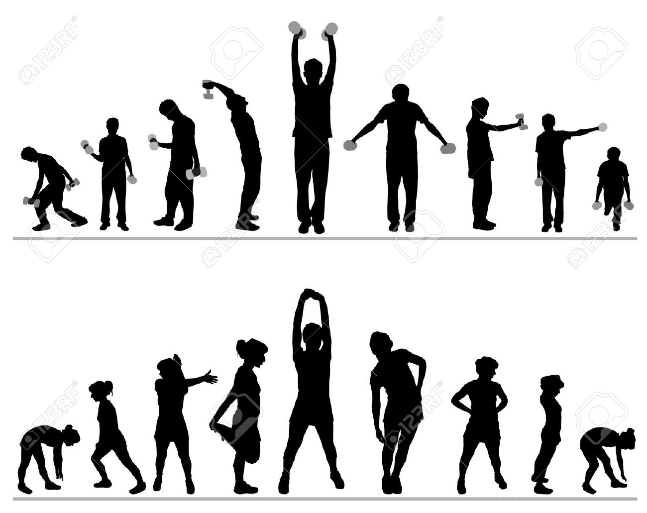 52 Fitness Clipart