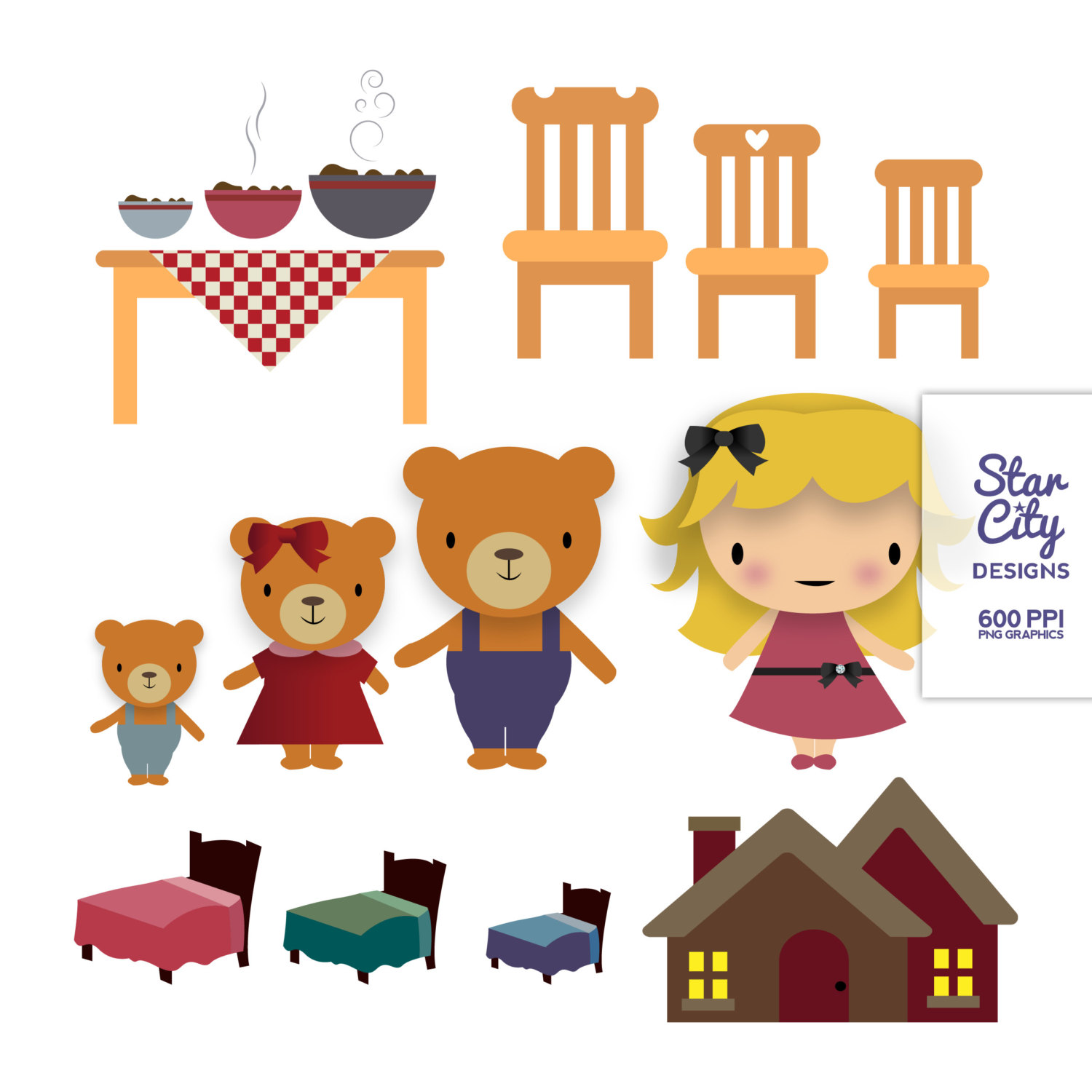 Goldilocks Clipart Amp Look At Clip Art Images