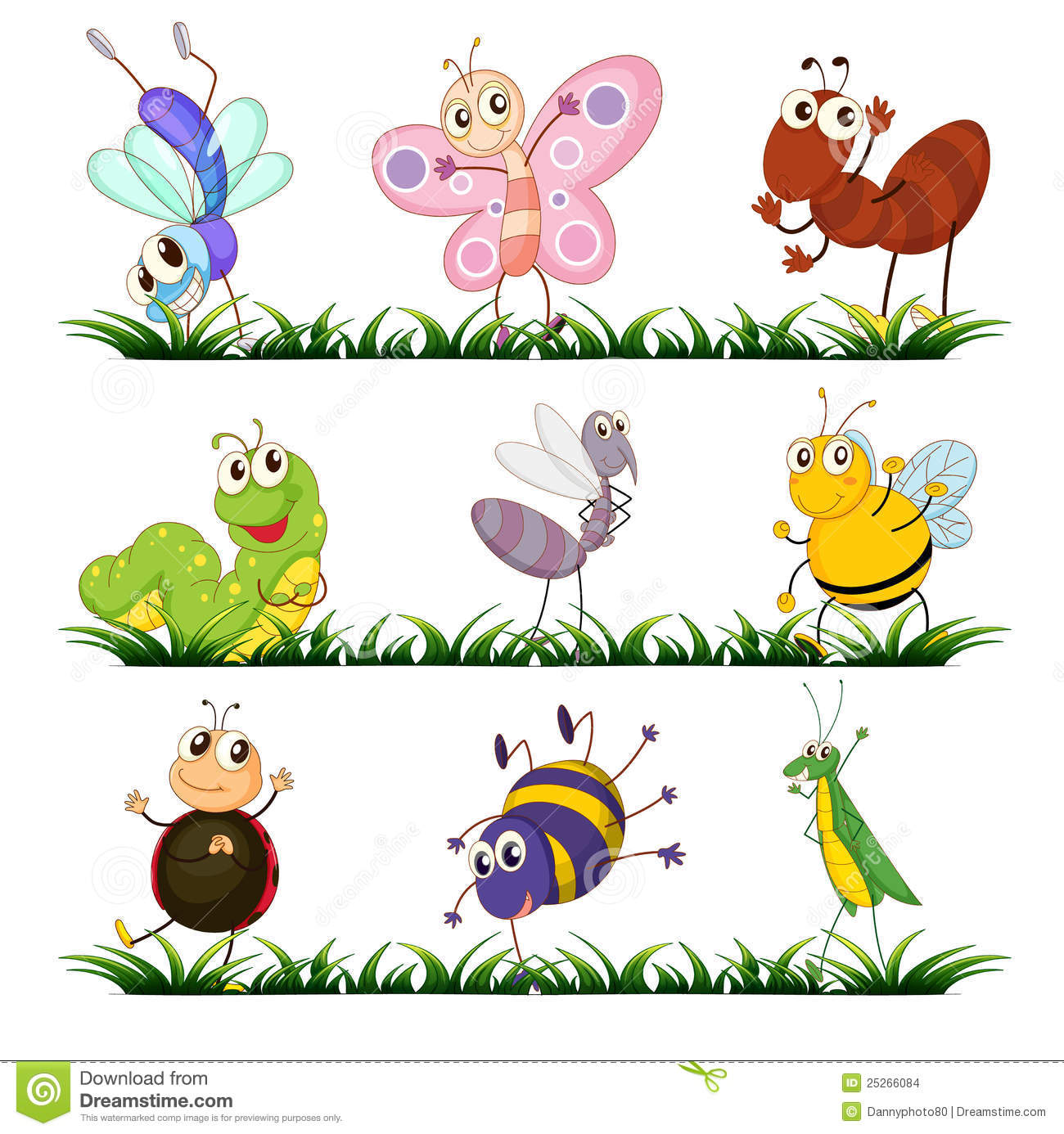 92 Insects Clipart