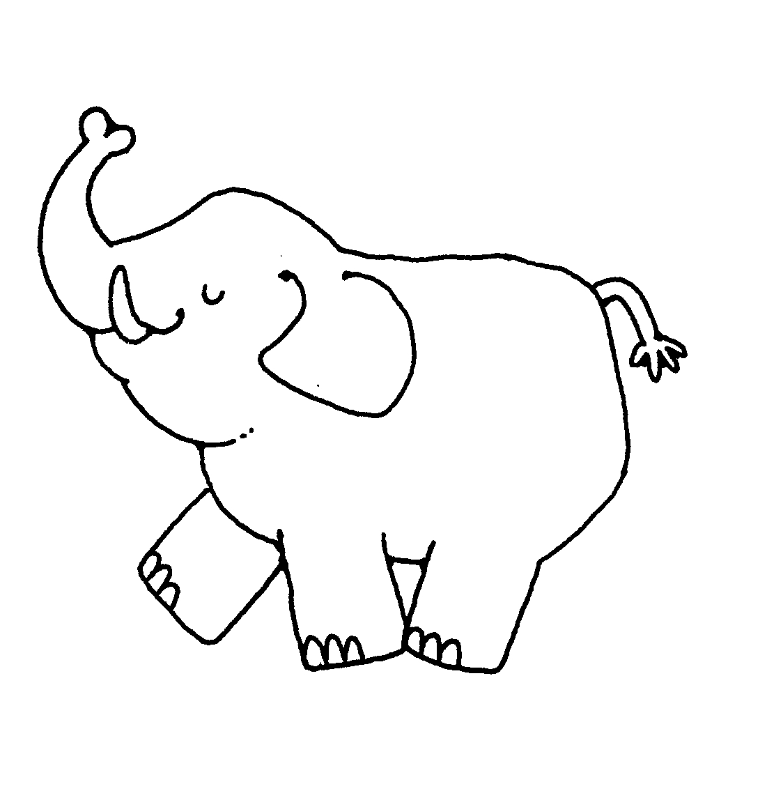 Elephant Clipart Black And White Amp Look At Clip Art Images