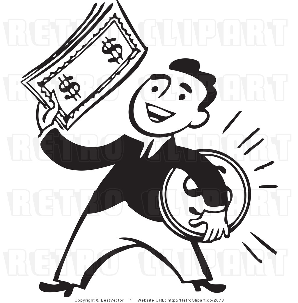 93 Money Clipart Black And White