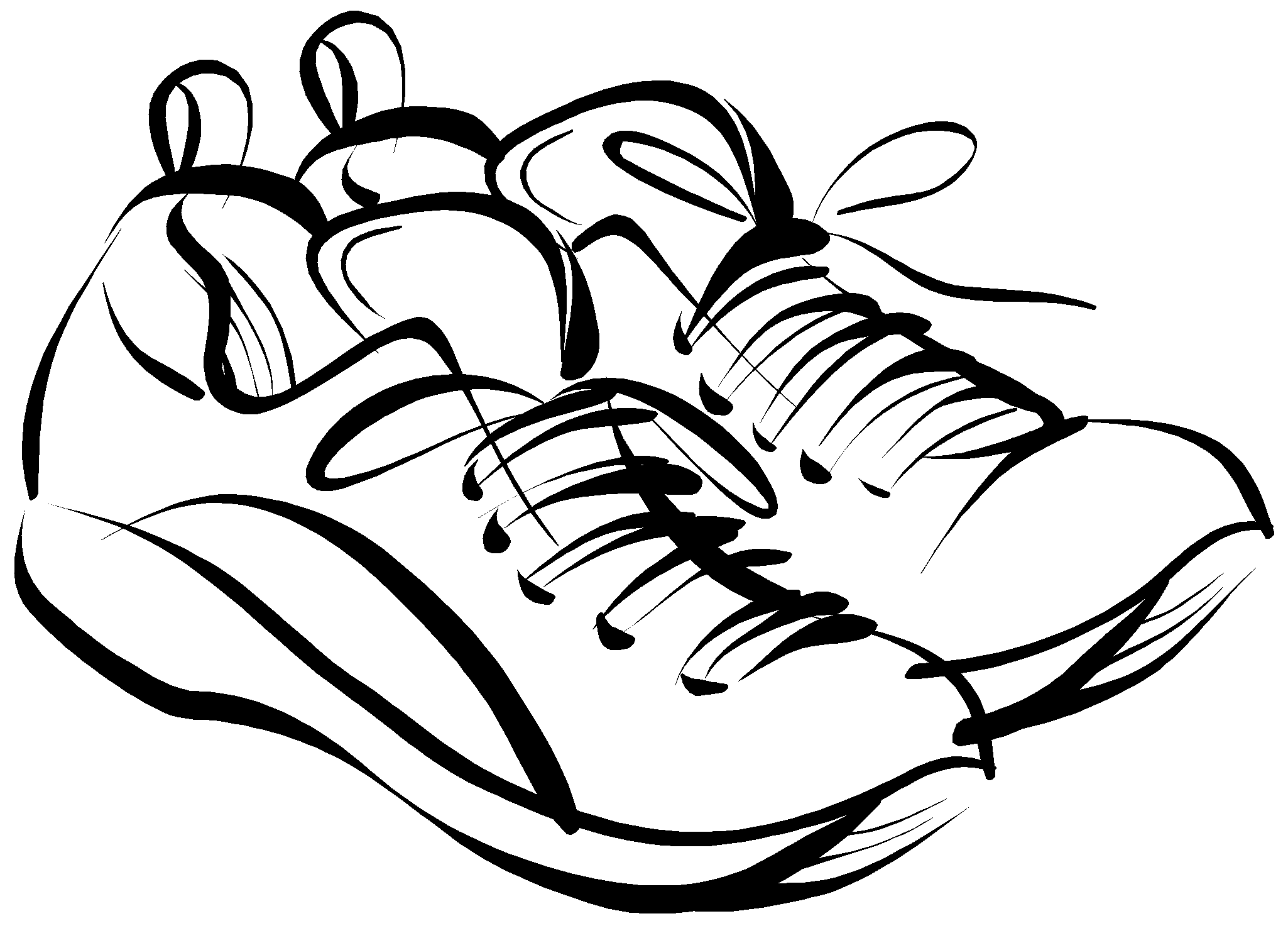Running Shoes Clipart Amp Look At Clip Art Images