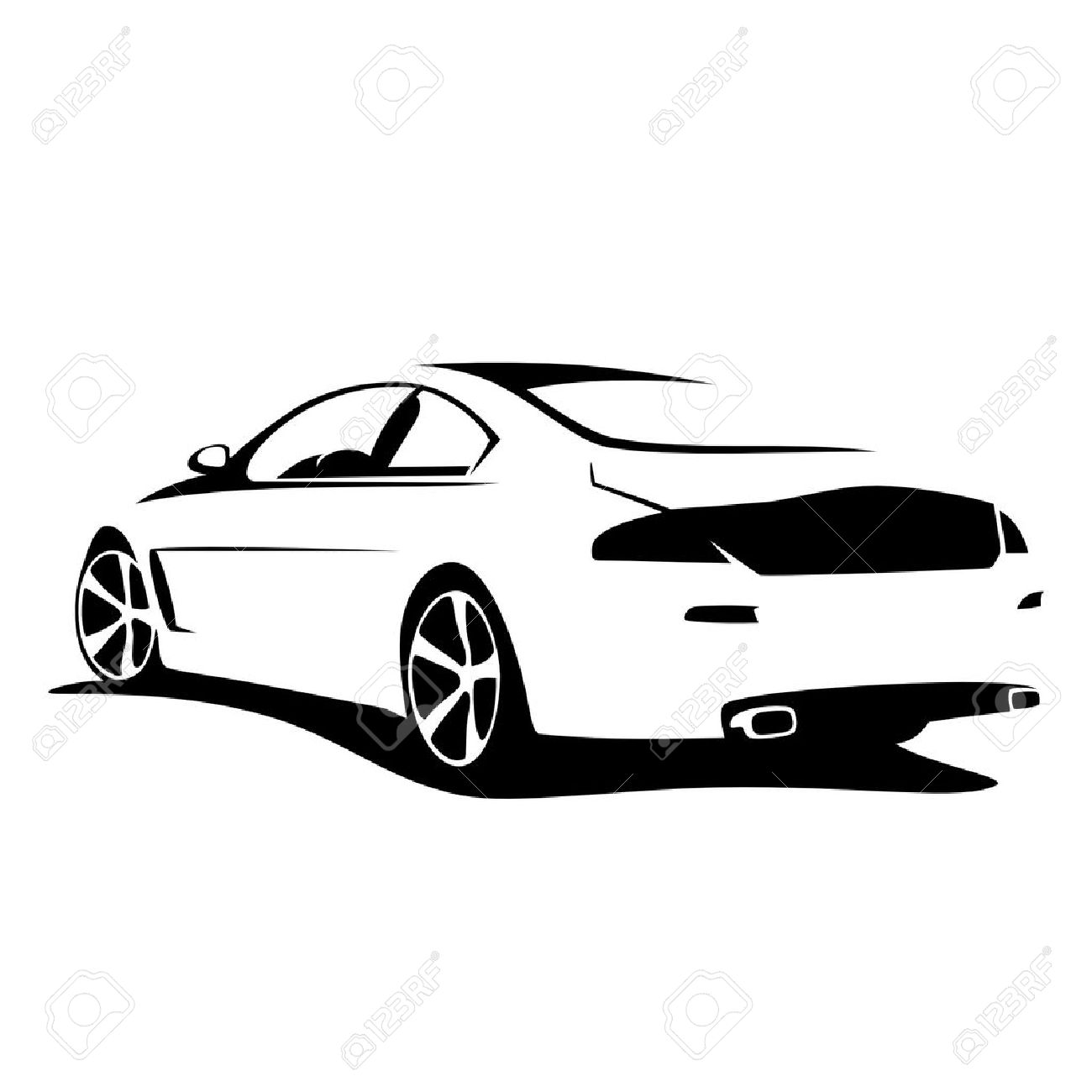 32 Tuning Car Clipart