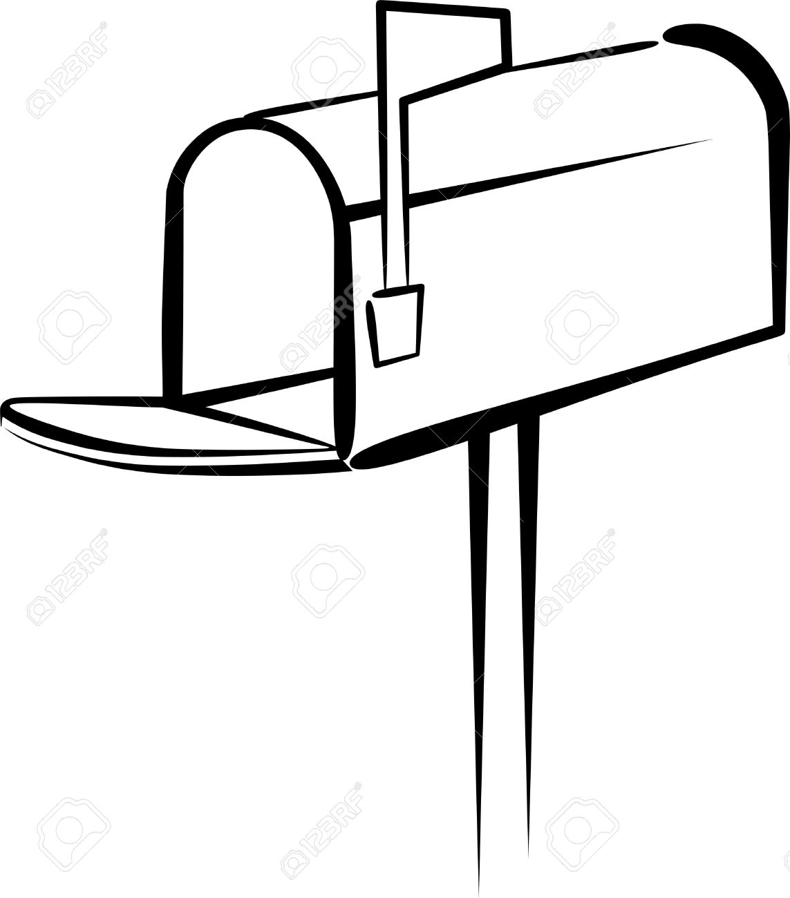 93 With A Mailbox Mailbox Clipart