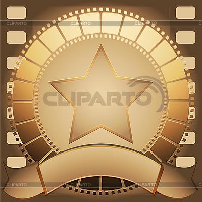 Кинопленка, звезда и лента для текста | Векторный клипарт ...