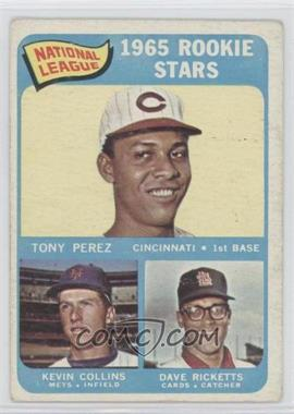 1965 Topps #581 - Rookie Stars/Tony Perez RC (Rookie Card)/Dave Ricketts RC (Rookie Card)/Kevin Collins RC (Rookie Car [Good to VG‑EX] - Courtesy of COMC.com