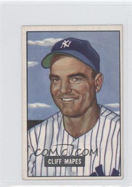 1951 Bowman #289 - Cliff Mapes - Courtesy of COMC.com
