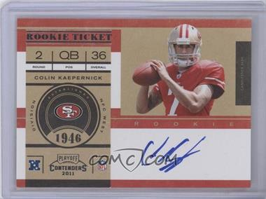 2011 Playoff Contenders #227B - Colin Kaepernick no logo AU/250* [Mint] - Courtesy of COMC.com