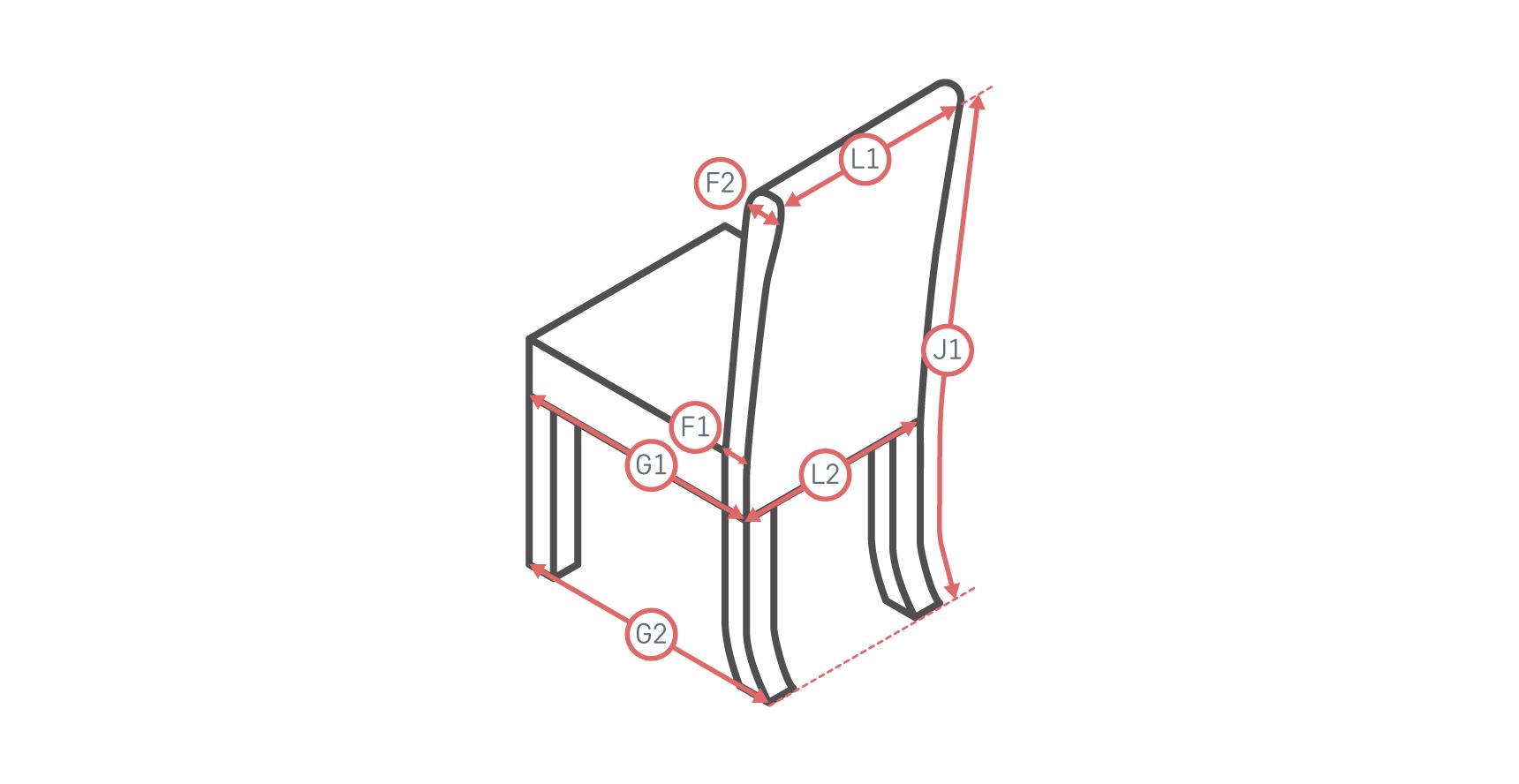 Long Skirt Dining Chair Slipcover