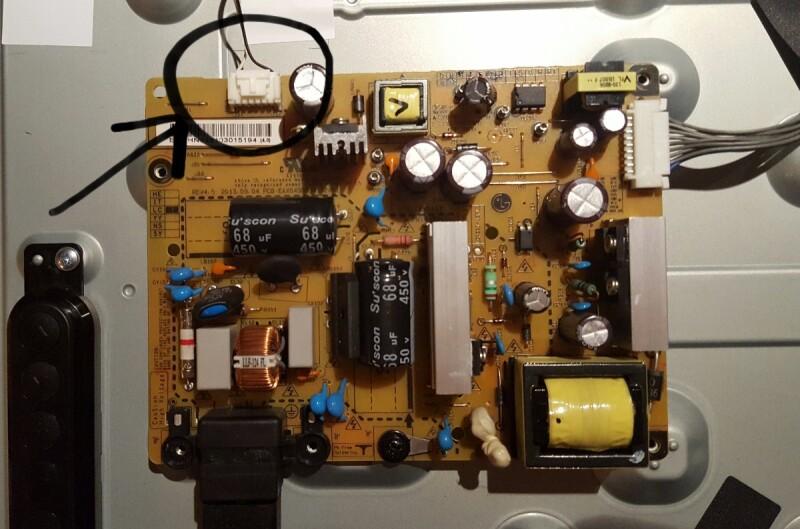 tv lg32ln540b ecran noir avec du son