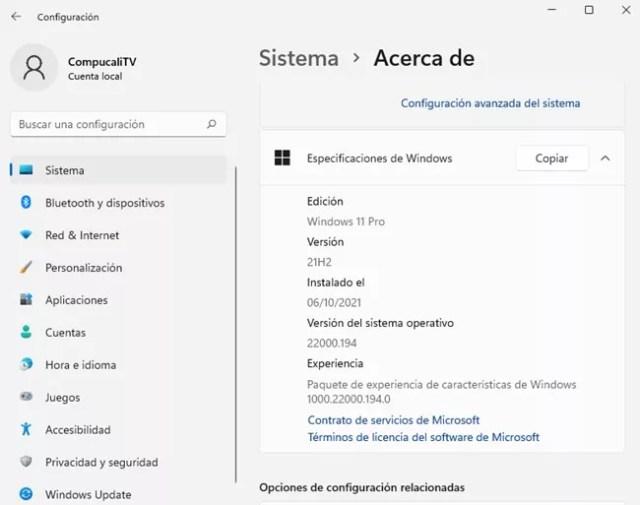 Windows 11 Versión Final | Español