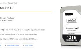 Western Digital宣佈第四代氦氣硬碟Ultrastar He12 12TB開始出貨 採用HelioSeal®技術的企業級HDD  提供突破性效能與容量 適用於高密度資料與極端需求的企業、雲端及超大規模工作量